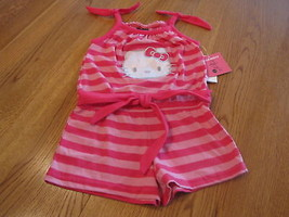 Girls Hello Kitty Romper 4 pink CER NWT HK59051 youth NEW ^^ - $15.45
