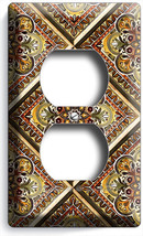 Tuscan Kitchen Tile Pattern Print Duplex Outlet Wall Plate Art Cover Home Decor - $8.99