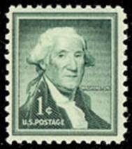 1954 1c George Washington, First President Scott 1031 Mint F/VF NH - $0.99