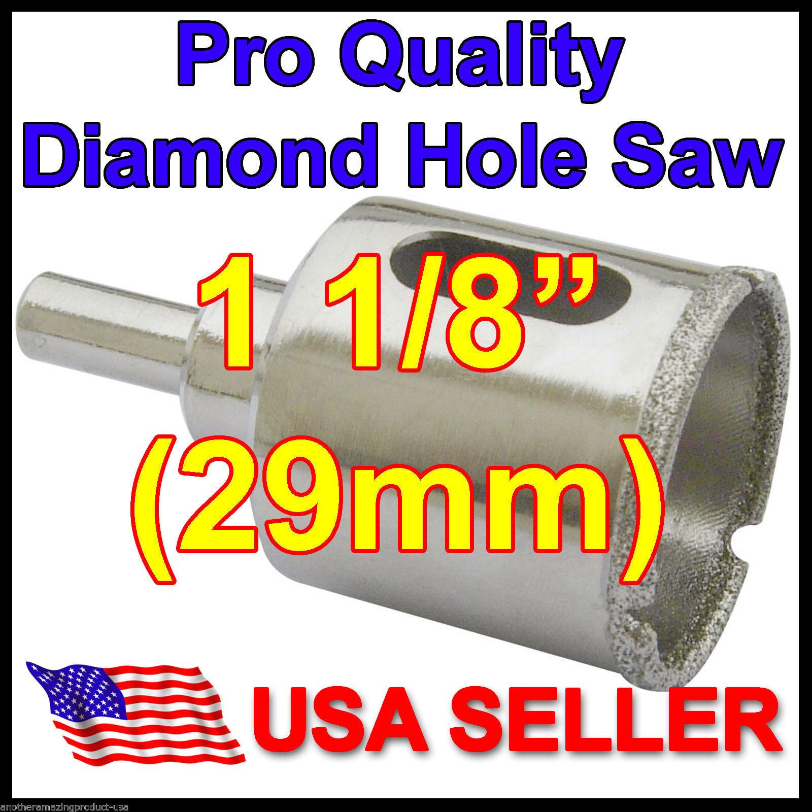 "1 1/8"" in Pro Diamond Hole Saw 29mm Porcelain Floor Tile Granite Glass Concrete - $27.11"