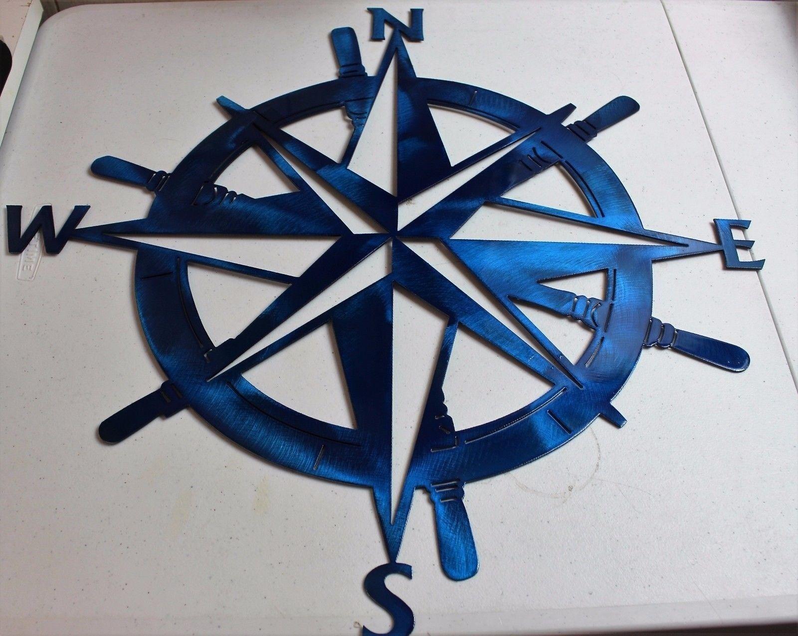 "Nautical COMPASS ROSE  WALL ART DECOR  15/"" Small version copper//bronze plated"