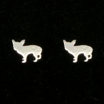 925 Silver Dog Chihuahua Stud Earring Jewelry - Chihuahua Jewelry - Ear ... - $32.00