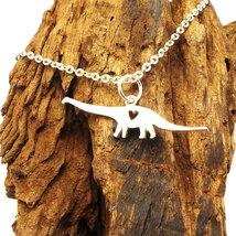 925 Silver Dreadnoughtus Schrani Brachiosaurus Dinosaur Necklace Pendant - $39.00