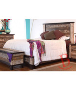 Rustic Beau Queen Bed Solid Wood Western Cabin Lodge Shabby Chic - $1,484.01