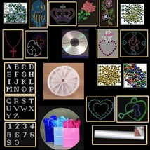 Rhinestone Hotfix Pattern designs Everything Gift Pack diy ready - $39.75