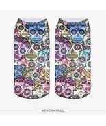 Multi Pattern Fashion Socks (Ankle, Mexican Skull) - $8.81