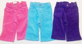 Children's Place Infant Girls Corduroy Pants Blue, Purple or PInk Size 6-9M NWT - $12.79