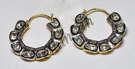 Victorian Insp. 2.20Ct Rose Cut/Polky Diamond Sterling Silver Earring @C... - $5.889,40 MXN