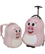 Happy Travel Pals Kids Animal Luggage and Backpack (Pig) - $58.79