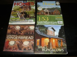 LOT OF 4 BOOKS ON SMALL SECOND HOMES, BUNGALOS, CABINS & COTTAGES - $11.88