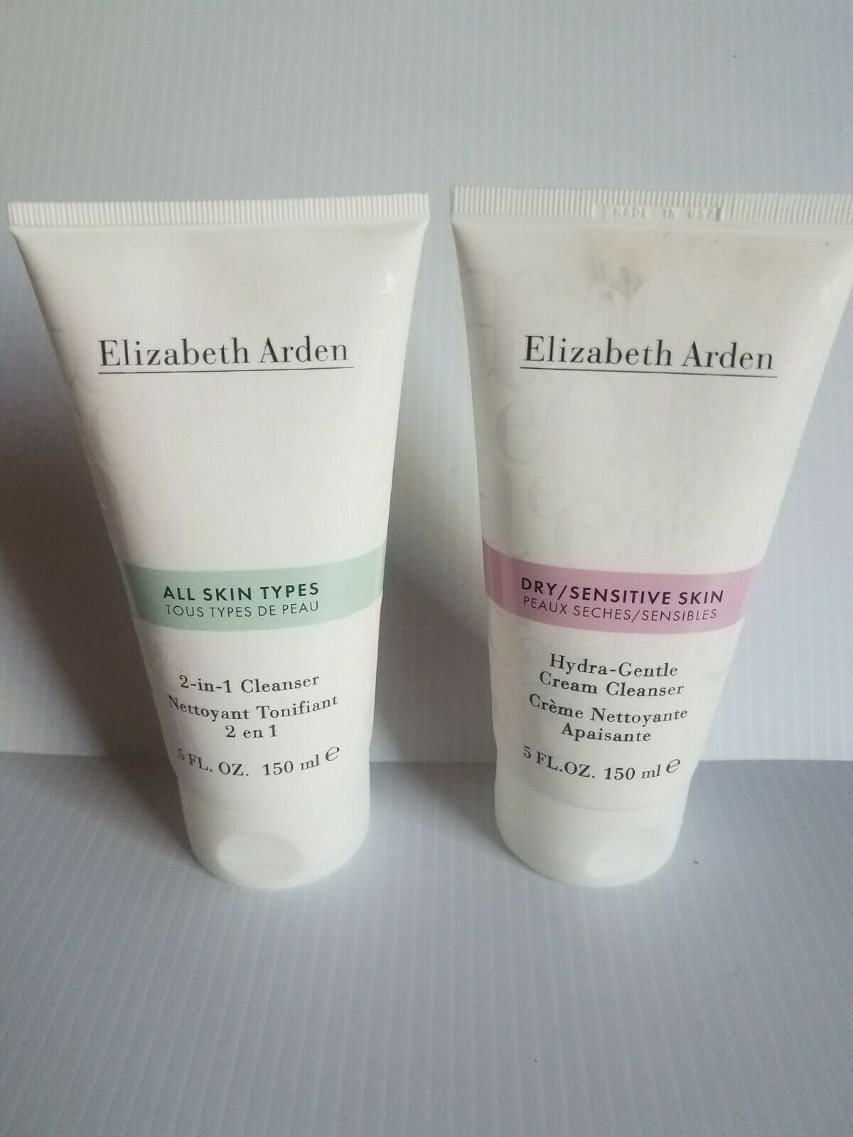 Primary image for 2 x Elizabeth Arden Cleanser 1- 2-in-1 All Types & 1 Dry Sensitive Skin 5 oz ea