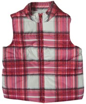 Gymboree Kids Girl's Red/Multi Plaid Quilted Puffer Vest, Sizes S (5-6); M (7-8) - $23.47