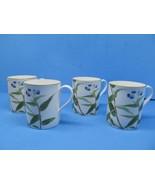 "Spode England Chinese Flowers Bamboo 3 5/8"" Mugs Set Of 4 Mugs EUC - $39.19"