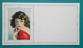 PINUP GIRL Black Hair Beauty Red Dress & Lipstick - Est 1920s INK BLOTTER - $8.55