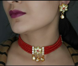 Indian Copper Fashionable Choker Necklace Jewelry free shipping - $13.86