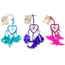 Funky  small Bali Dreamcatchers-Small Heart-Turq/Pink/Purp -cars/homes/c... - $6.00