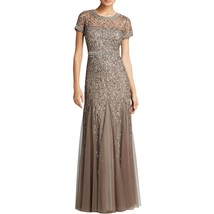 Adrianna Papell Lead Embellished Sequin Evening Formal Dress   12   $320 - $216.81