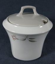 Nikko Dove Gray #323 Sugar Bowl with Lid Floral Quadrille - $14.97