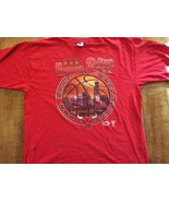 "Rare Red Chicago Bulls NBA Champions T-Shirt Starter  ""Repeat 3-Peat"" si... - $23.74"