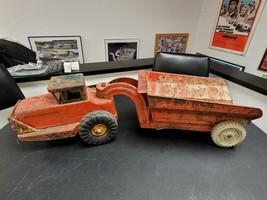 Vintage Nylint Farm Tractor & Hydraulic Wagon Dump Truck - $79.19