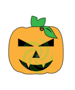 Pumpkin Face P13smp-Digital ClipArt-Art Clip-Gift Tag-Tshirt-Halloween - $3.99