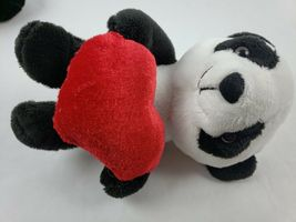 "Dann Dee Collectors Choice Monkey Panda 8"" Plush Heart Lot of 2 Stuffed Animals image 5"