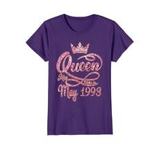 Funny Shirts - Queens born in May 1993 25th Birthday Gift 25 years old Wowen image 5