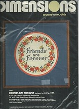"Dimensions, Counted Cross Stitch #3509, 'Friends Are Forever', 8"" X 8"" - $19.68"