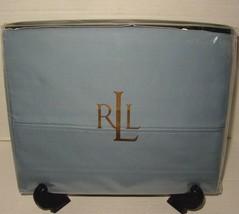 RARE Ralph Lauren Classic Queen Flat Sheet 100% Supima Cotton Montauk Bl... - $54.33