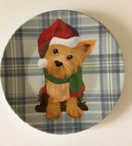 "Yorkie Dog Appetizer Tidbit Christmas Paid Melamine Plates 6"" set of 4 D... - $498,67 MXN"