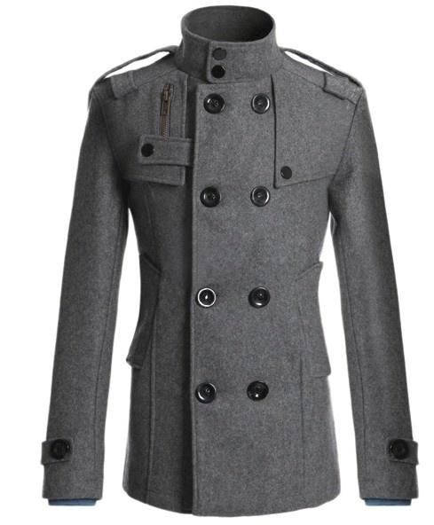 [Asia Size] Men's Fashion Korean Slim Fit Plus Size Men Overcoat Wool