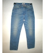 New NWT 28 Mens 48 IT Designer Acne Jeans Distressed Blue Crop High Wais... - $158.00