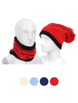 Women's Ivory Solid Color Acrylic 2-in-1 Head and Neck Warmer - $10.99