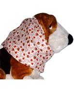 Beige Hearts Paws Bones Cotton Dog Snood by Howlin Hounds Bloodhound Siz... - $13.50