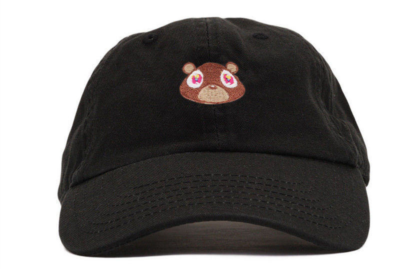 8ccea7832d9 Kanye West Embroidered Black Dropout Bear Dad Hat Drake Pablo Baseball Cap  Yeezu