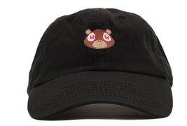 Kanye West Embroidered Black Dropout Bear Dad Hat Drake Pablo Baseball C... - ₨663.33 INR
