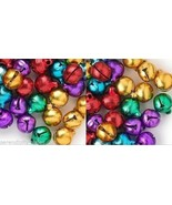 "BULK LOT 2000 CHRISTMAS JINGLE BELLS Bright COLORS 10-12mm (~3/8""+) Drop... - $32.97"