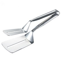 Stainless Steel Barbecue Clamp Meat Bread Fried Tongs Clip Kitchen Cooki... - $17.81