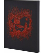 Harley Quinn Face Paint Splatter Canvas 16 by 20 2 Inch Depth Size - $18.59