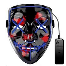 Halloween LED Mask LED Light Up Mask Purge Scary Masks Festival Cosplay ... - £16.64 GBP