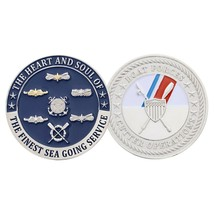 COAST GUARD SILVER BOAT FORCE CUTTER OPERATIONS CHALLENGE COIN - $17.14