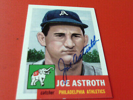 JOE  ASTROTH   HAND  SIGNED  AUTOGRAPH   TOPPS  ARCHIVES  # 103   PH  AT... - $19.99
