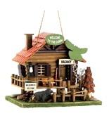 Woodland Cabin Bird House Garden Decor - $12.82
