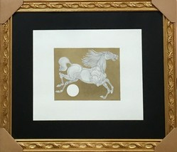 """GUILLAUME AZOULAY """"ENTRECHAT"""" ORIGINAL PEN & INK DRAWING WITH H/COLOR FR... - $895.50"""