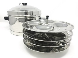 Tabakh IC-204 4-Rack Stainless Steel Idli Cooker with Strong Handles, Ma... - €33,60 EUR