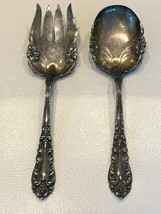 Frank M. Whiting Art Nouveau Sterling Silver Salad Serving Fork and Spoo... - $220.00