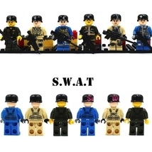All Squad Military Army 6 Soldier With Weapons Fit Lego Minifigure Toy C... - $14.99