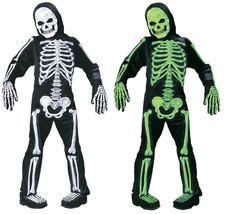 Fun World Totally Skelebones Green White Child Boys Halloween Costume 8736 - $27.69