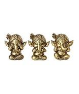 Set of Three Ganesha See No Evil Hear No Evil Speak No Evil Decorative S... - $24.74