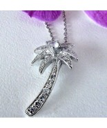 Design Inspired Tropical Palm Sterling Pendant & Chain - $24.74
